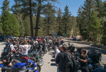Riders at their destination - Newcomb's Ranch